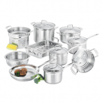 Cookware Set - 10 Piece - 16cm/1.8L Saucepan - 18cm/2.5L Saucepan - 20cm/3.5L Saucepan - 16/18/20cm Multi-Steamer - 24cm/4.8L Dutch Oven - 26vm Frypan - 24cm Multipot Set      - 24cm/7.2L Stockpot      - 24cm Pasta Insert      - 24cm Steamer insert
