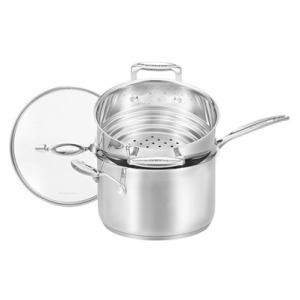 Cookware Set - 2 Piece Multi-Steamer - 20cm/3.5L Saucepan - 16/18/20cm Multi-Steamer
