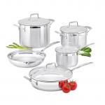 Cookware Set - 5 Piece - 16cm/1.8L Saucepan - 20cm/3.5L Dutch Oven - 26cm Frypan - 24cm/7.2L Stockpot - 28cm Sauté Pan